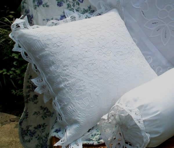 Victorian lace throw pillows battenburg throw pillows antique tissue covers
