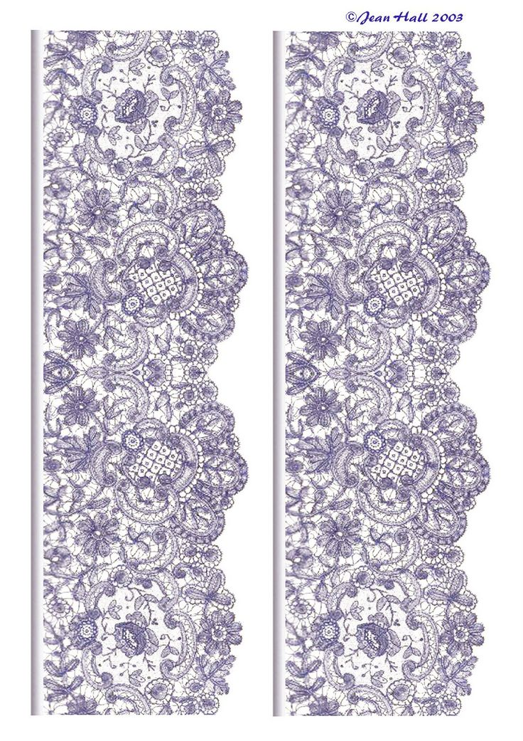 ArtbyJean - Images of Lace: Lace Edgings in a variety of colors and different types of lace