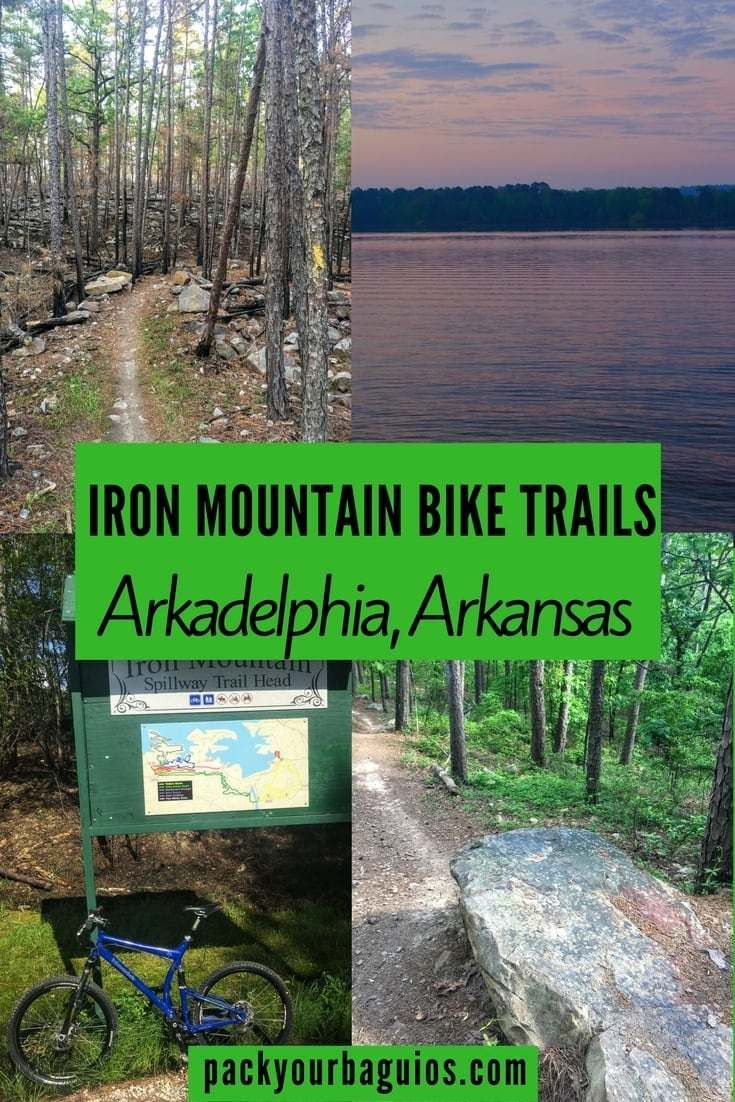 Iron Mountain is one of the great fun mountain bike rides in Arkadelphia, Arkansas (USA). Not too hard and not too easy with about 1600 feet (488 meters) in elevation. I had the opportunity to ride the Iron Mountain bike trails over Easter weekend while camping out at Lake DeGray campgrounds. May the following information enhance your ride experience and avoid the pitfalls I encountered navigating the trail routes.