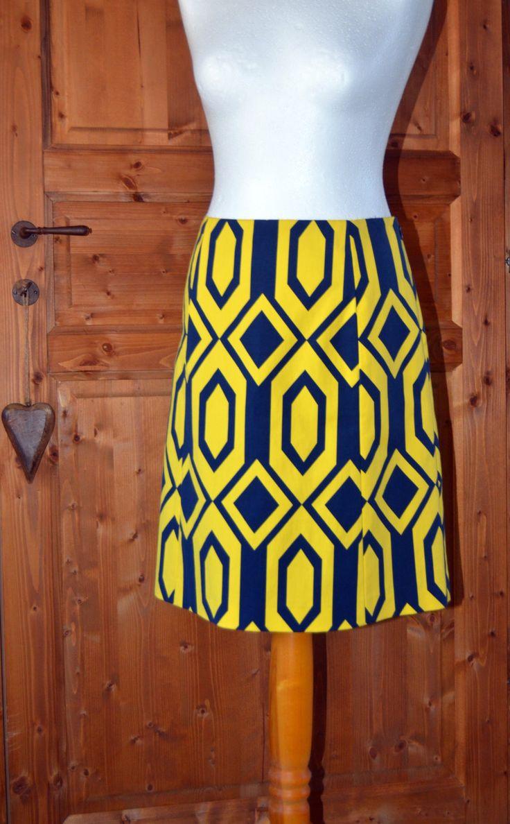 Original Ralph Lauren skirt ~ Optical Bright Blue&Yellow skirt ~ Never Worn Ralph Lauren ~ Brand Name Vintage Clothing ~ M/L size by CatsAndHatsVintage on Etsy