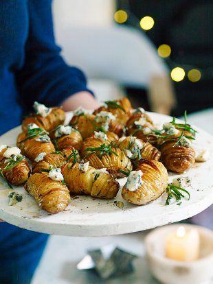 Hasselback Potatoes with Gorgonzola & Honey | Jamie Oliver