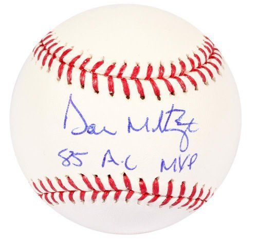 Don Mattingly Autographed Baseball w/ 85 AL MVP - JSA Certified - Autographed Baseballs by Sports Memorabilia. $149.99. Don Mattingly Autographed Baseball w/ 85 AL MVP - JSA. This eye-catching piece comes with our own hologram certification. Items like this gain value over time, making it a good buy at a good price. It's not easy to get a high quality piece like this, since Don Mattingly has a reputation for not scheduling many official signing sessions. Perfect autograph qualit...
