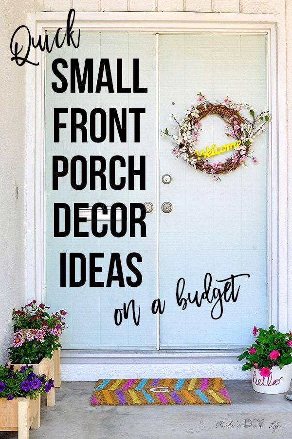 Small Front Porch Decorating Ideas In