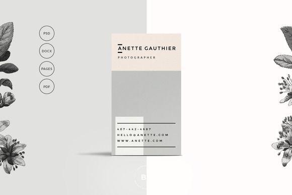Modern, Clean Business Card Template @creativework247