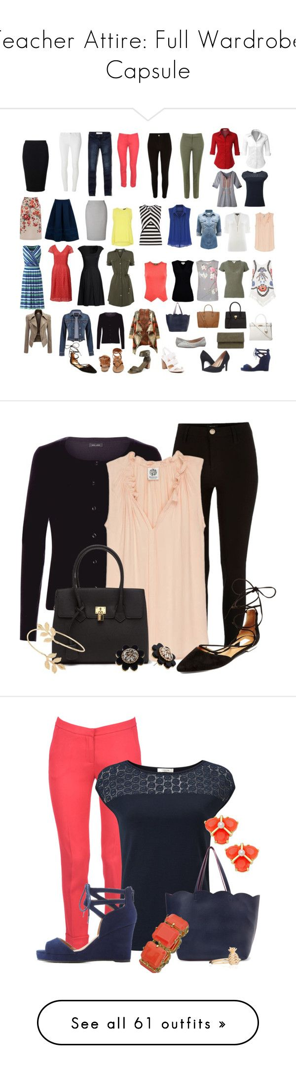 """""""Teacher Attire: Full Wardrobe Capsule"""" by vanessa-bohlmann ❤ liked on Polyvore featuring Dorothy Perkins, River Island, KI6? Who Are You?, John Lewis, Abercrombie & Fitch, Canvas by Lands' End, Lands' End, Karen Millen, Bobeau and Velvet by Graham & Spencer"""