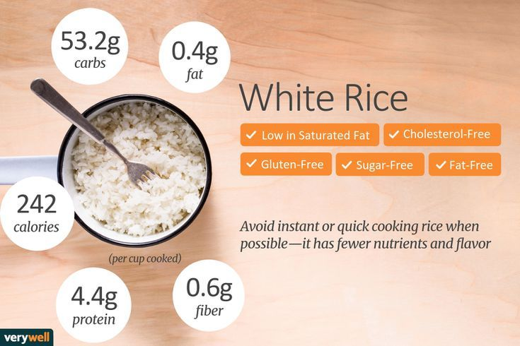 How To Choose The Healthiest Type Of Rice For Your Diet Rice Nutrition Rice Nutrition Facts Nutrition Facts