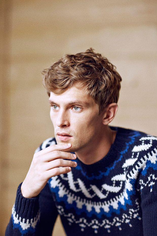 Danish Model Mathias Lauridsen by Quentin De Briey for the Massimo Dutti Après Ski Fall Winter 2014-2015 Campaign