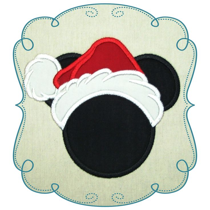 Mickey Mouse Applique Machine Embroidery Design Pattern-INSTANT DOWNLOAD