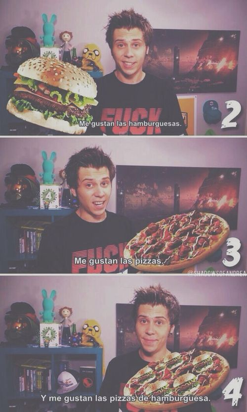 Imagen de elrubiusomg, pizza, and quote