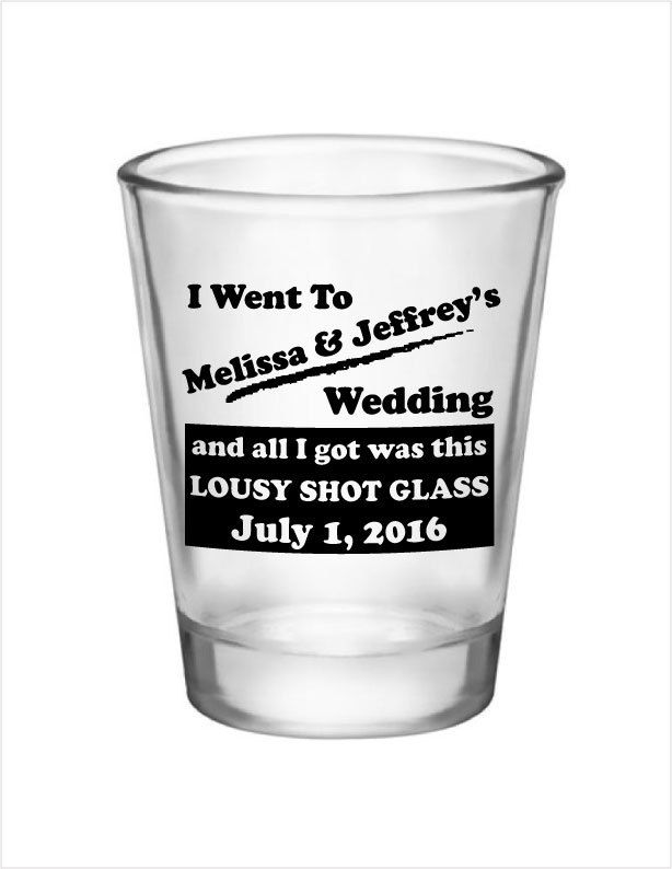 72 Wedding Favor Personalized 15oz Shot Glasses Custom Favors Funny Options By Factory21