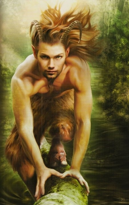 "Pan, god of the wild and companion of the nymphs. Inspiration for ""The Immortal Game"" by Joannah Miley"