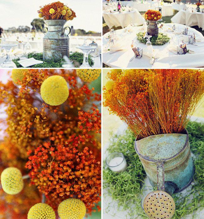 17 best images about orange wedding on pinterest daisy - Yellow and orange wedding decorations ...