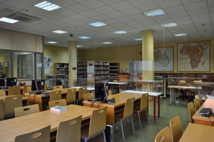 Sala general y cartoteca.