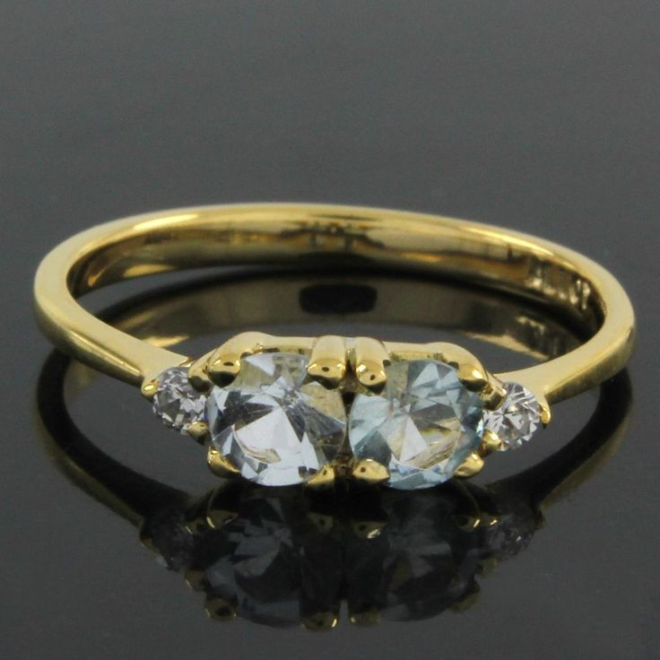 18k Yellow Gold Gp 0.44ct Round Cut VVS Diamond Wedding Ring O953 #findingsnjewelry #Wedding