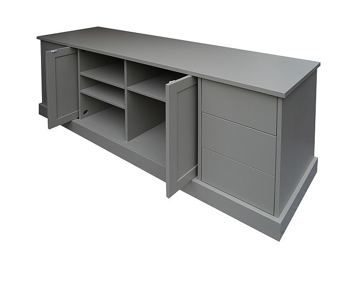 Tv cabinet tv stand custom made home entertainment - Retractable tv cabinet living room furniture ...