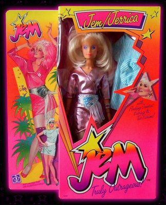 Jem and the Holograms Doll 1980s Cartoon, 'truly truly truly outrageous '