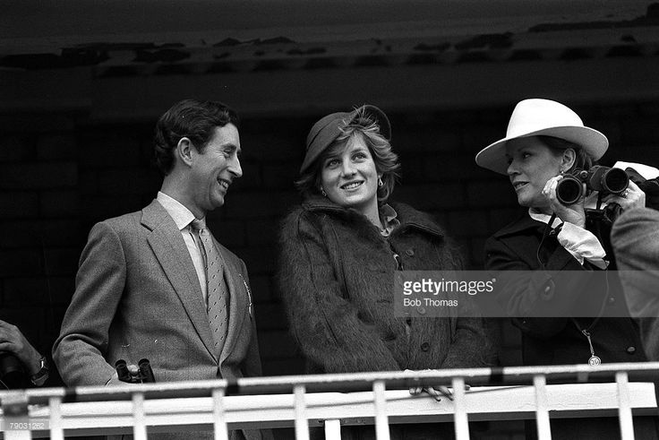 1982--Sport, Horse Racing, The Grand National, Aintree, Liverpool, England, Circa 1980's, HRH the Prince of Wales (Charles) is pictured with his wife Diana the Princess of Wales
