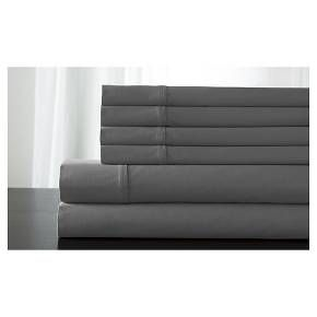 • Pure cotton <br>• 300-thread count<br>• Contemporary solid color<br>• Machine washable<br>• Sateen finish<br>• Deep pocket fitted sheet<br>• Available in standard mattress sizes<br>• Includes: 4 pillowcases, 1 flat sheet & 1 fitted sheet (twin size includes 2 pillowcases)<br><br>If you like sleeping with extra pillows, you're going to love the Legacy, 100% Co...