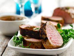 Maple roast pork tenderloin with rosemary