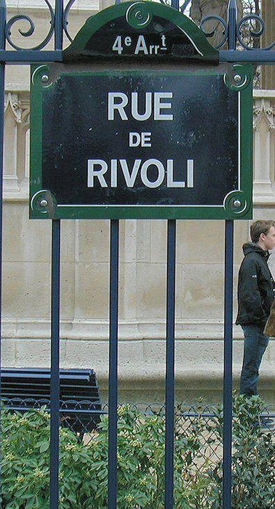 La rue de Rivoli  (Paris 75001/75004)