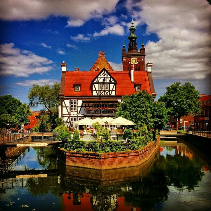 The Miller's House next to the Great Mill in Gdansk, #Poland - the biggest mill in medieval #Europe  #ilovegdn #gdansk #poland #europe #medieval #architecture #oldtown #summer #holiday #summersky #tsu #socialmedia Join me on tsū: http://www.tsu.co/niezabitowski