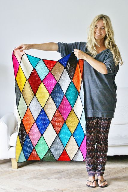 wood & wool harlequin blanket: LOVE IT!