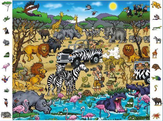 Busca los animales en este Safari