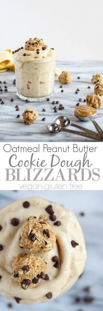 Oatmeal Peanut Butter Cooke Dough Blizzards - pumpkinandpeanutbutter