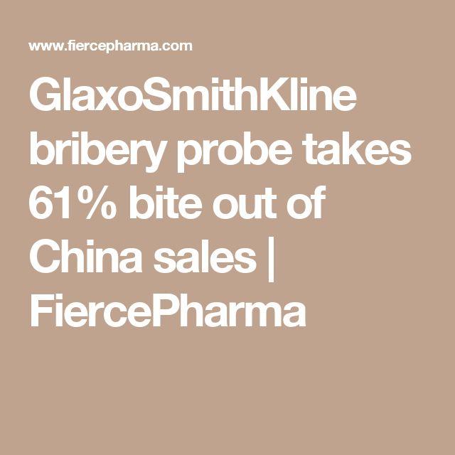 GlaxoSmithKline bribery probe takes 61% bite out of China sales | FiercePharma