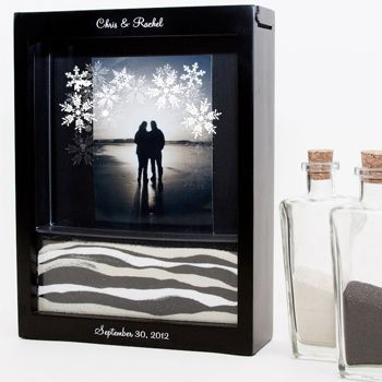 Snowflakes Unity Sand Ceremony Shadow Box Set From Foreverwedstore