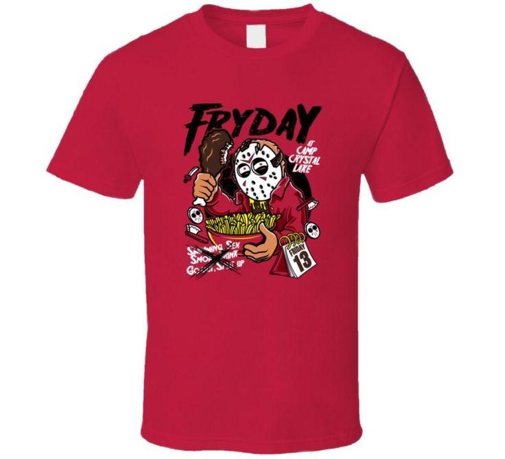 Friday The 13th Fryday Halloween Horror Movie Funny T-Shirt Sleeve Shirts Fashion O-Neck T Shirt Harajuku Tops Tees
