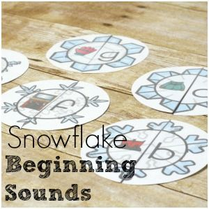 Simple Snowflake Beginning Sounds Puzzles