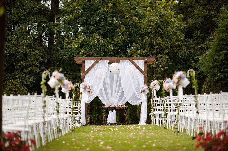 Decoracao de casamento ao ar livre em Chacaras em Curitiba
