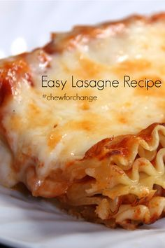 Easy Lasagna Recipe - so quick and delicious