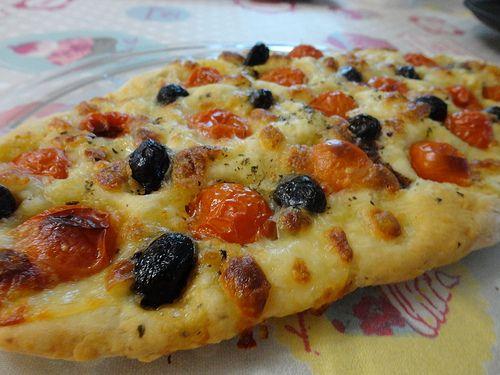 Foccacia tomates, olives, mozzarella - Fourchettes et Pinceaux