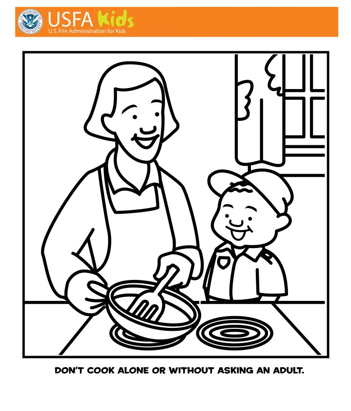 Galerry coloring pages of safety at home