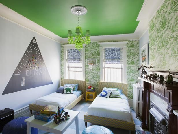 Bold + Playful Paint Colors for Kids' Rooms (http://blog.hgtv.com/design/2014/05/26/bold-playful-paint-colors-for-kids-rooms/?soc=pinterest): Kids Bedrooms, Kid Bedrooms, Gardens Television, Kids Room Design, Little Boys Room, Children Room, Kid Rooms, Painting Ceilings, Novogratz Kids