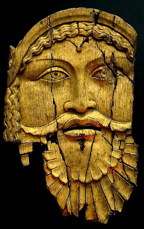 Ivory relief depicting Dionysus. 1st.century.B.C.- 1st.century. A.D.   Sepino Italy.