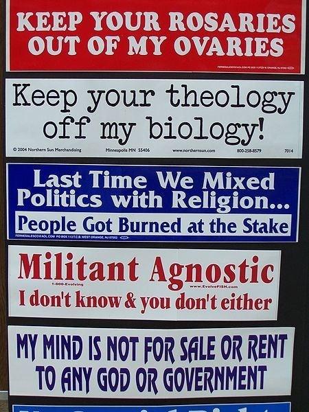 I *love* the militant agnostic one.