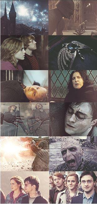 The End.  Battle of Hogwarts.  Harry Potter.