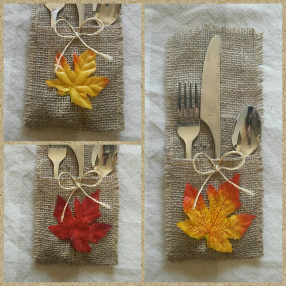 *please note: the last day to order these to get them in time for thanksgiving is Thursday, November 12.  These burlap silverware holders