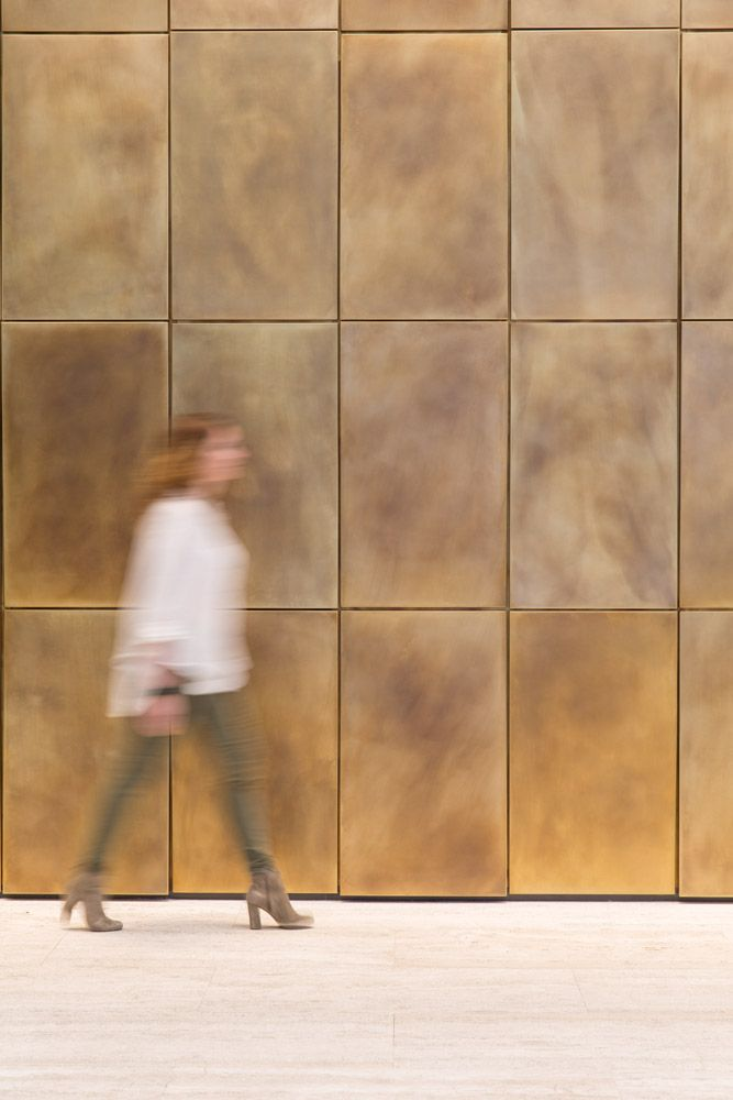 Custom Brass Lobby Wall | New York, NY