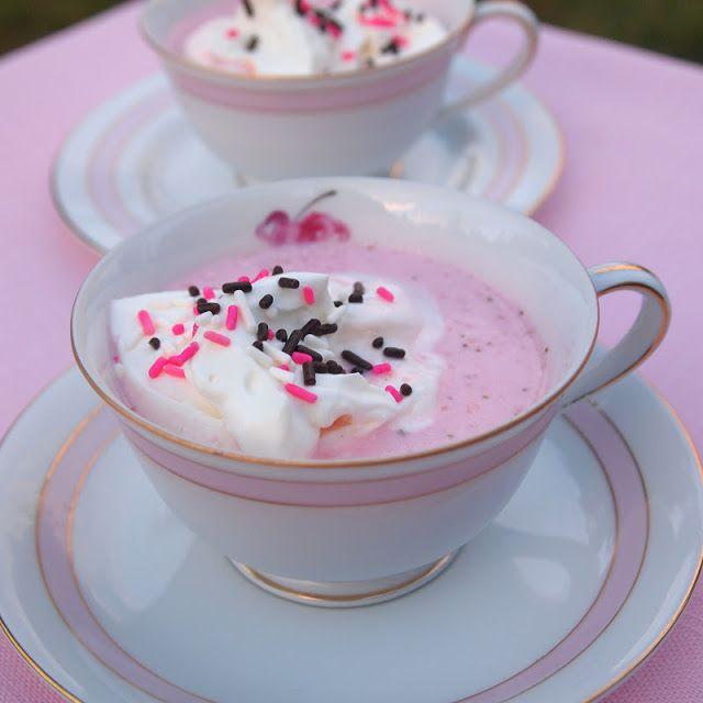 Strawberry Hot Chocolate. Valentines day