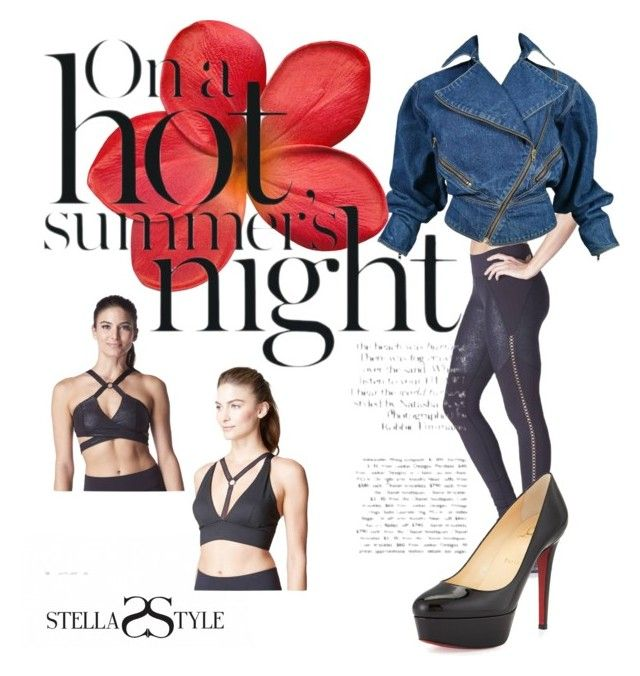This Barre Legging & both sports bra's from Michy are perfect for a hot summer night. Give this outfit a chic & edgy look with some Louboutins & denim jacket! by stellasstyle247activewear on Polyvore featuring polyvore, fashion, style, Alaïa, Christian Louboutin, Michi and clothing