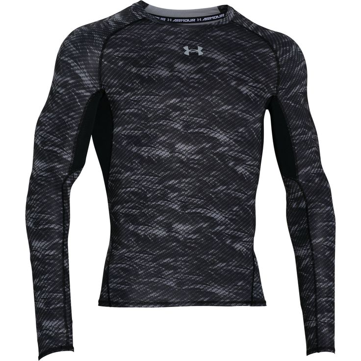 The Under Armour HeatGear Armour Printed Mens Long Sleeve Compression Base Layer…