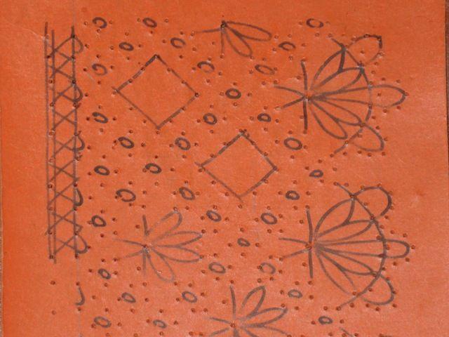 Mod le de base du 1er carton dentelle aux fuseaux - Modeles gratuits de grilles de dentelles aux fuseaux ...