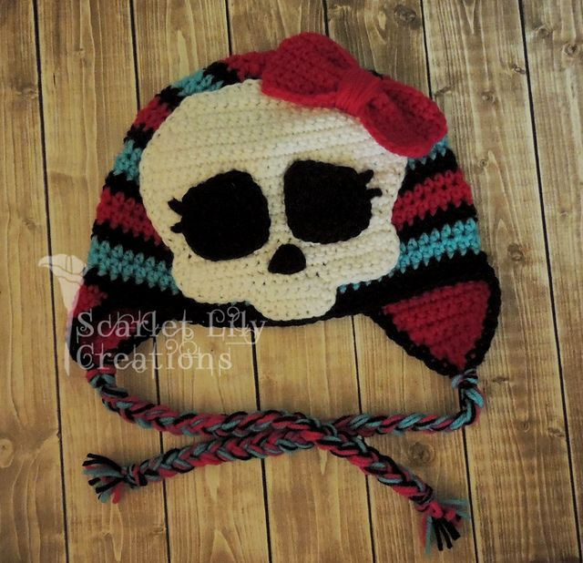 Ravelry: Monster High Skull Applique pattern by Jamie Huisman crochet