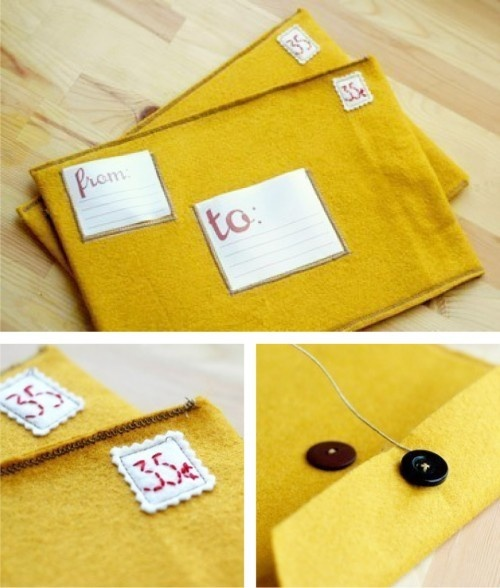 felt envelopes--these would be really fun to actually USE in the mail.
