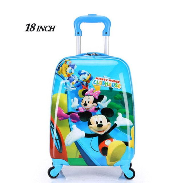 18 inch 2017 new ABS+PC cartoon Children's suitcase Luggage/free shipping Children Luggage/Boy and Girl Cartoon trolley case box