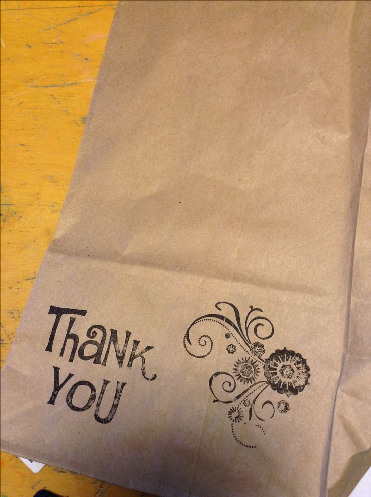 Craft show packaging - brown paper bags and stamps. this is what I will be doing. probably hand written for now. cute and affordable
